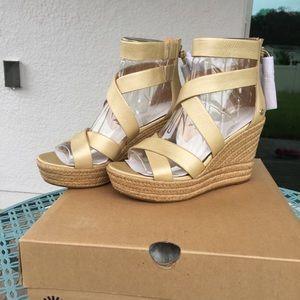 c68816a333d UGG Shoes - Ugg Raquel Metallic Sandal - Soft Gold - 9